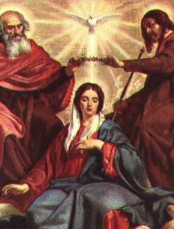 fifth glorious mystery   mary s coronation as queen of heaven and